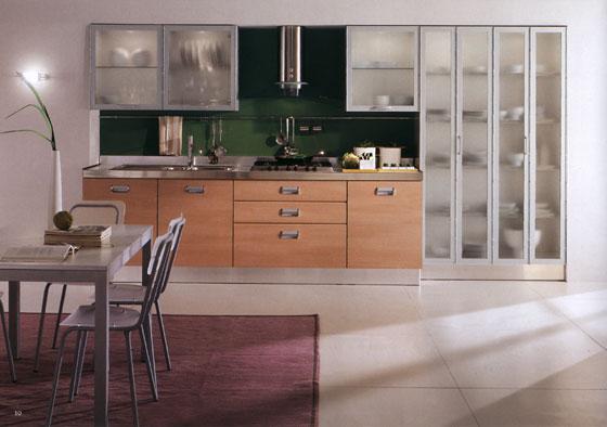 Кафяви модерна кухня 1098 3316